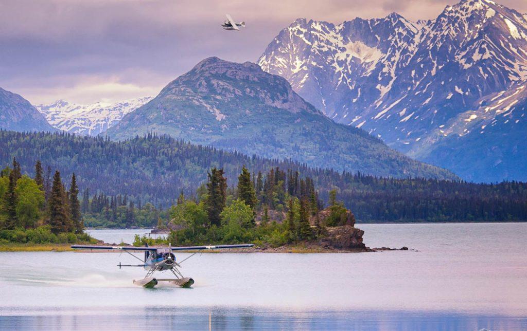 Sobrevolar Prince William Sound Alaska en hidroavión