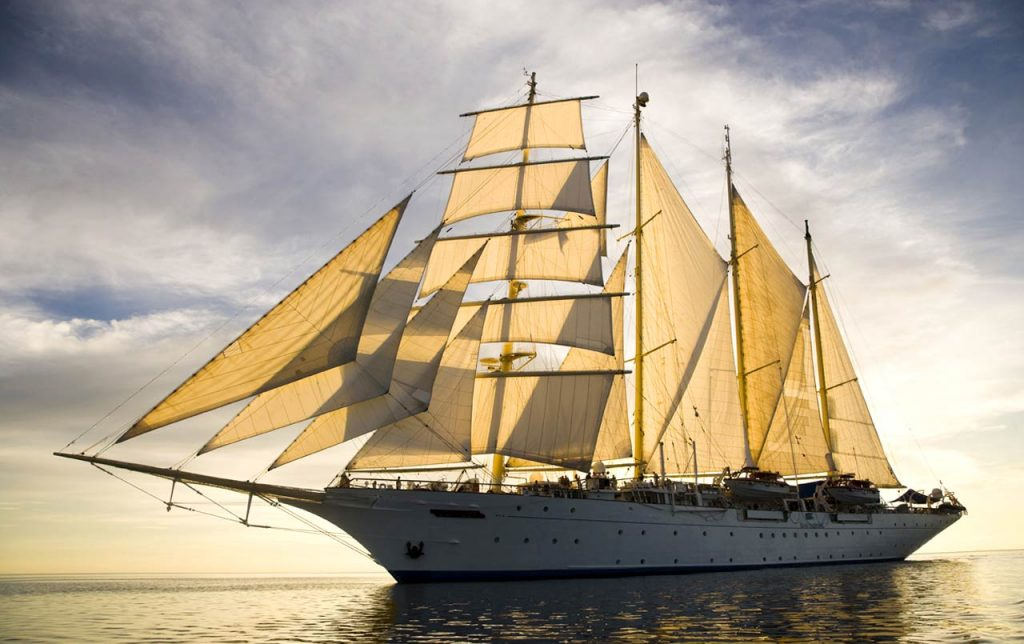 Privatizar un velero para 150 personas